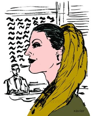 portrait femme iranienne port foulard dérision image dessin xavier