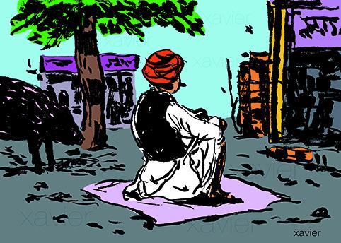 drawing dessin xavier image Hombre, ilustración,India, xavier,el país,viaja,illustration,inde,india
