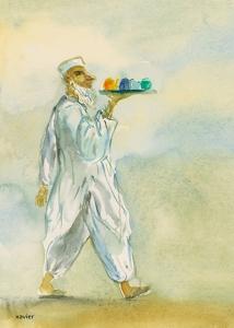 la tradition du thé au pakistan, aquarelle xavier,La tradición del té en paquistán,tradition of tea in Pakistan,